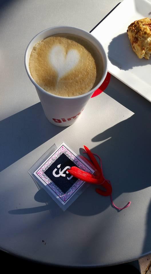 Nora Balfour taking a much deserved latte break